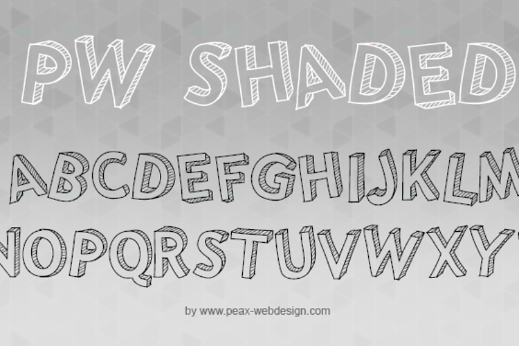 PWShaded Font