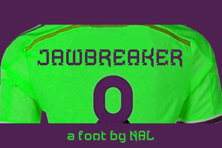 Jawbreaker Font