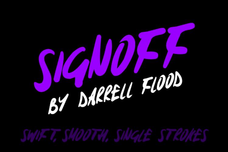 Signoff Font