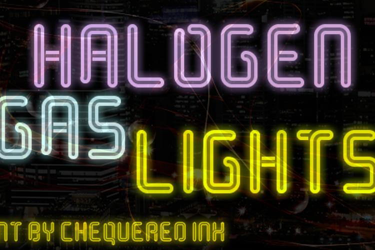 Halogen Gas Lights Font
