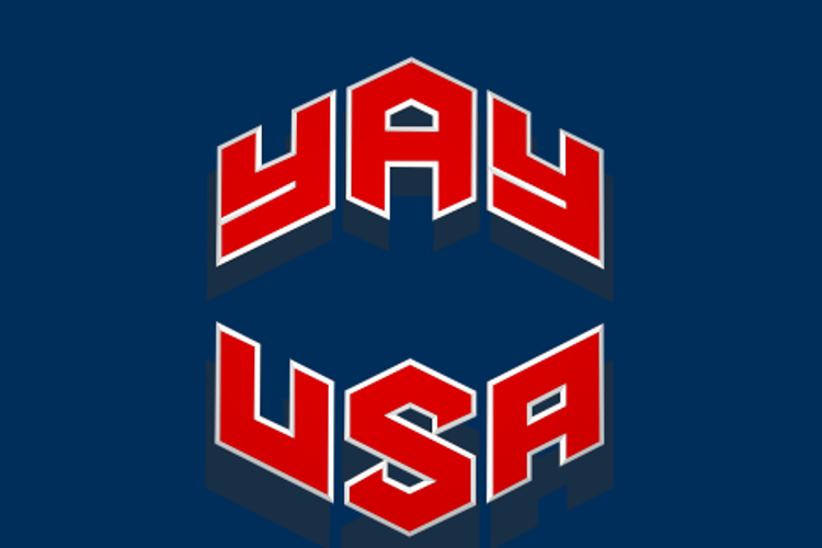 YAY USA Font