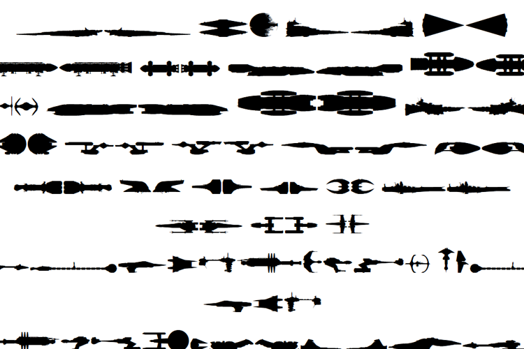 Famous Spaceships Font