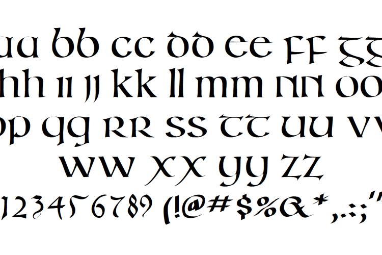 Irish Unci Alphabet Font