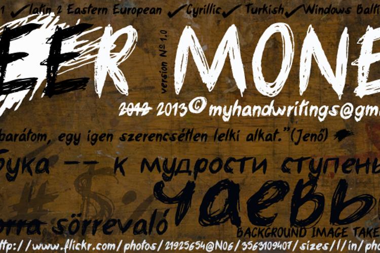 beer money Font