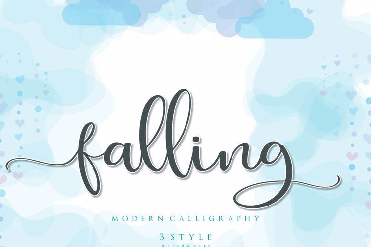 falling for Font