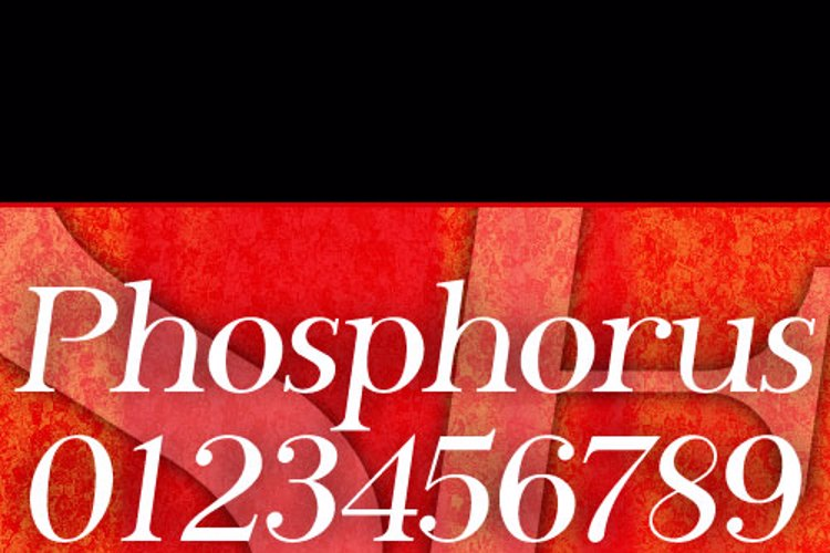 SF Phosphorus Font