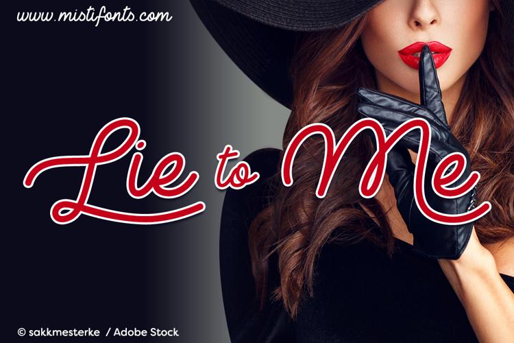 Lie to Me Font
