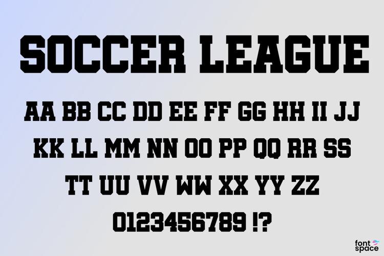 Soccer League Font