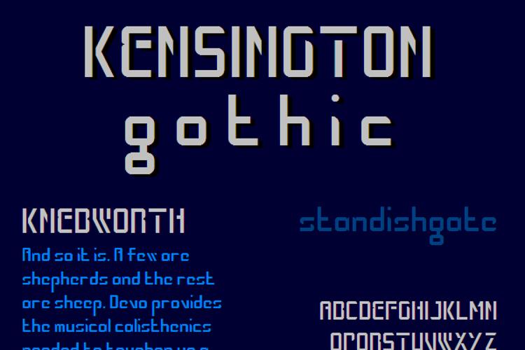 Kensington Gothic NBP Font
