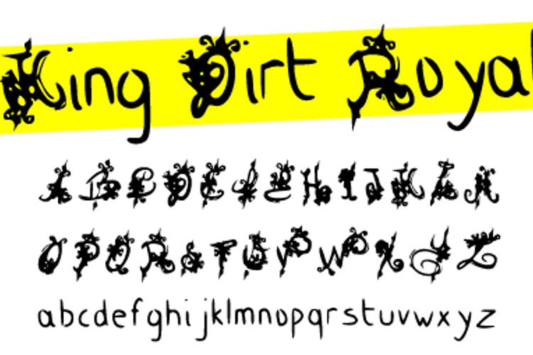 King Dirt Royal Font