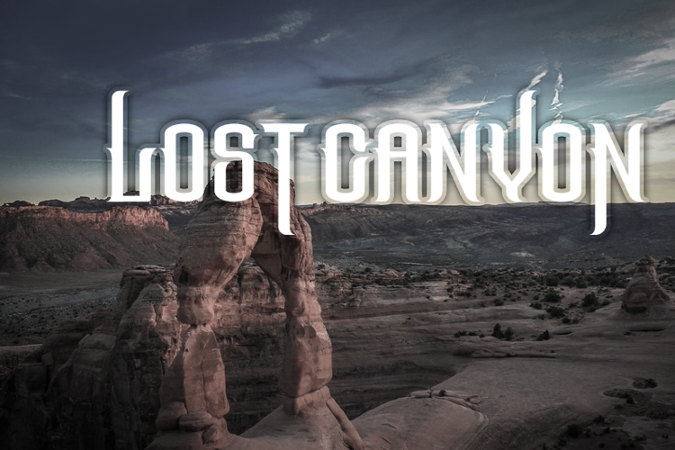 The Lost Canyon Font