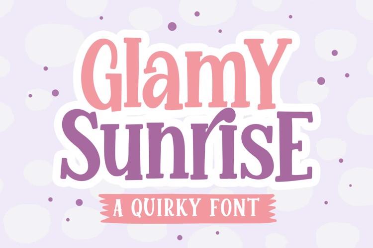 Glamy Sunrise Font