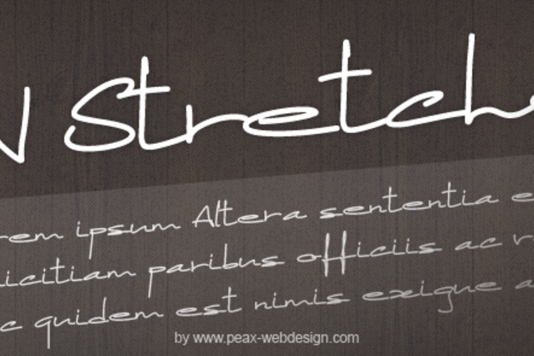 PWStretched Font