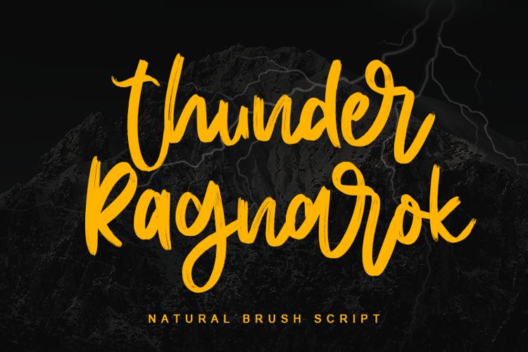 Thunder Ragnarok - Font