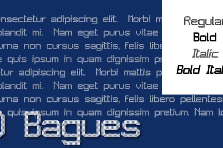 JD Bagues Font