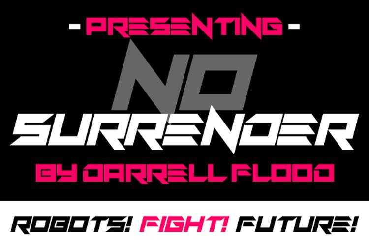 No Surrender Font