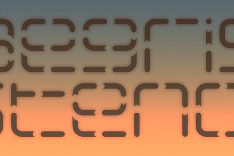 Aegris Stencil Font