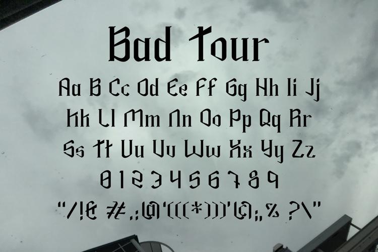 Bad Tour Font