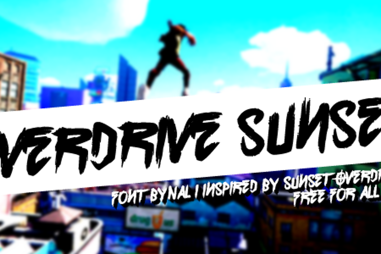Overdrive Sunset Font