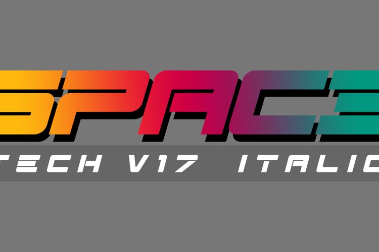 Spac3 - Tech v17 - Italic Font