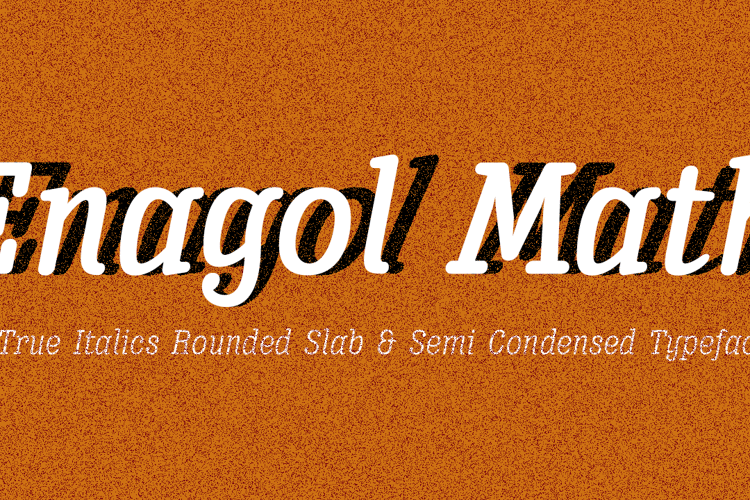 Enagol Math Font