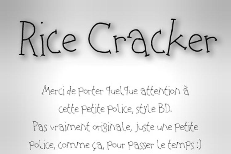 Rice Cracker Font
