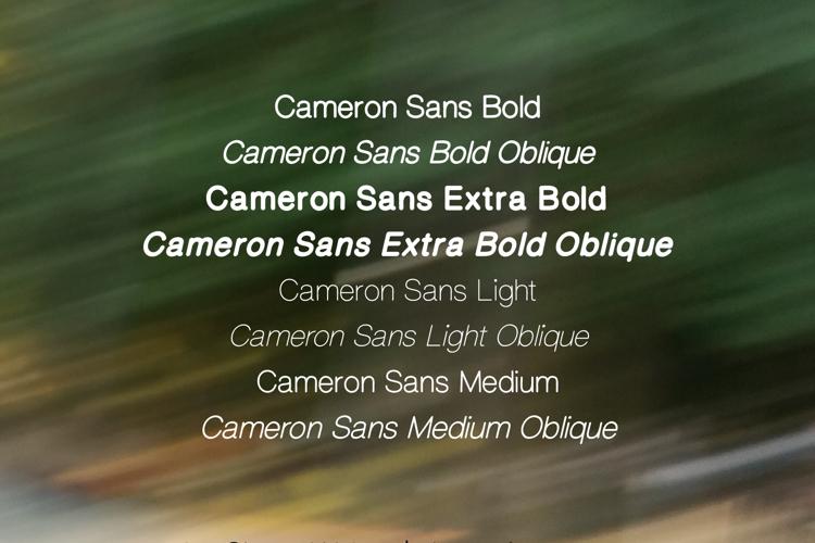Cameron Sans Font