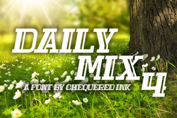 Daily Mix 4 Font
