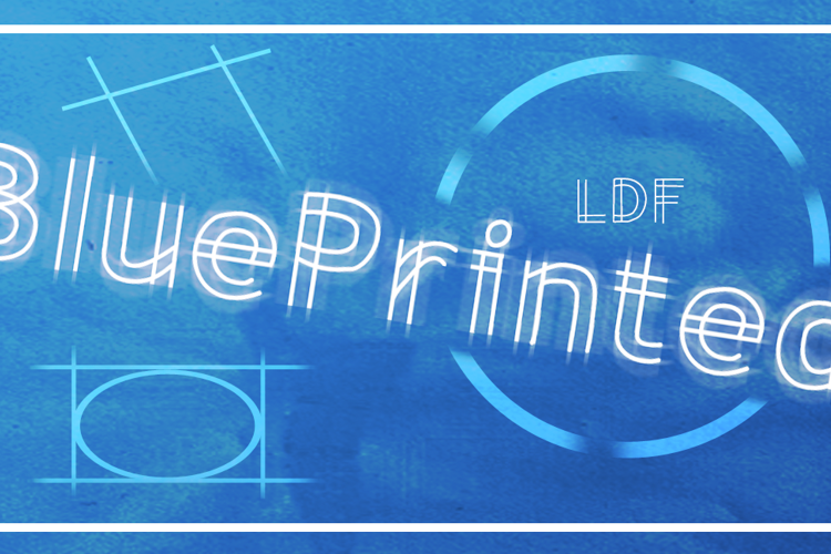 BluePrinted Font