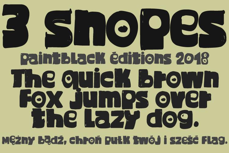 3 Snopes Font