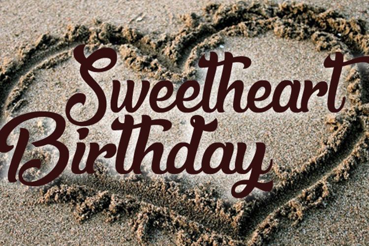 Sweetheart Birthday Font