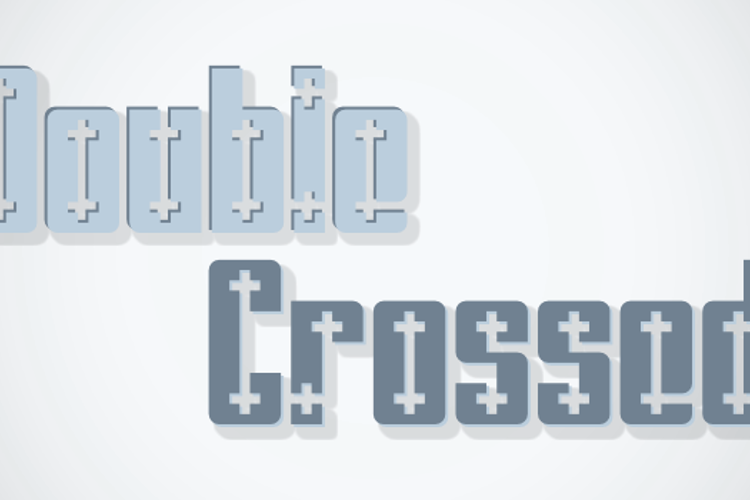 Double Crossed Font