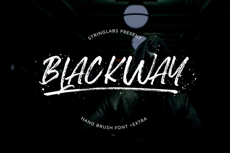 Blackway Brush Font