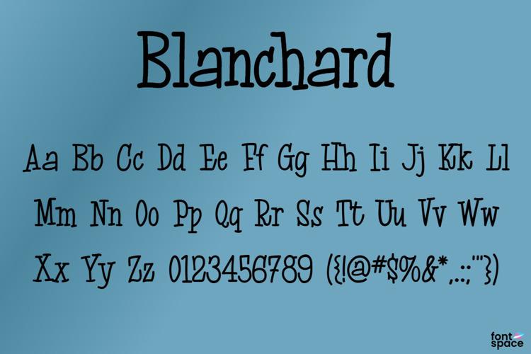 Blanchard Font