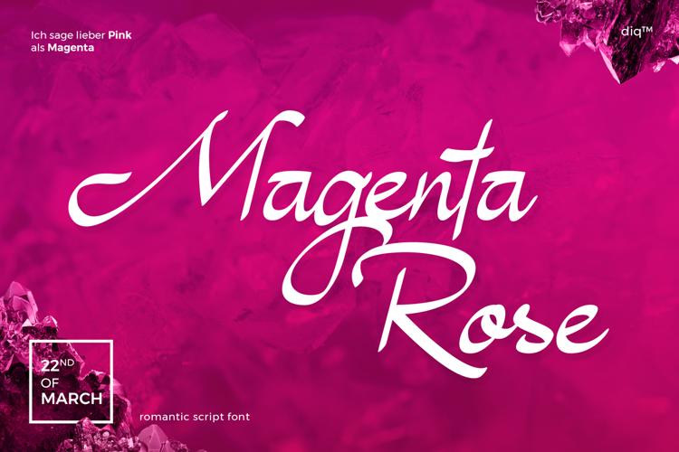 Magenta Rose Font