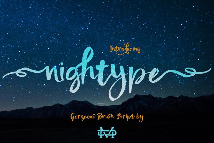 Nightype Font