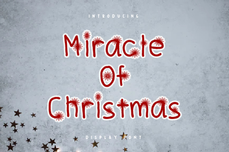 Miracle Of Christmas Font