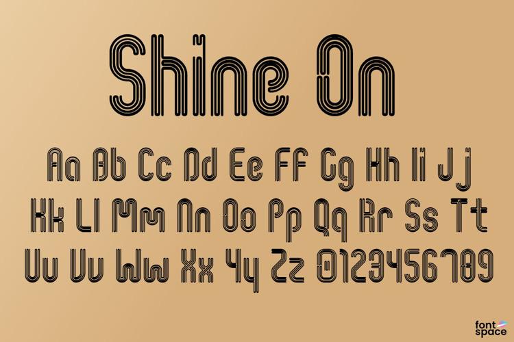 Shine On Font
