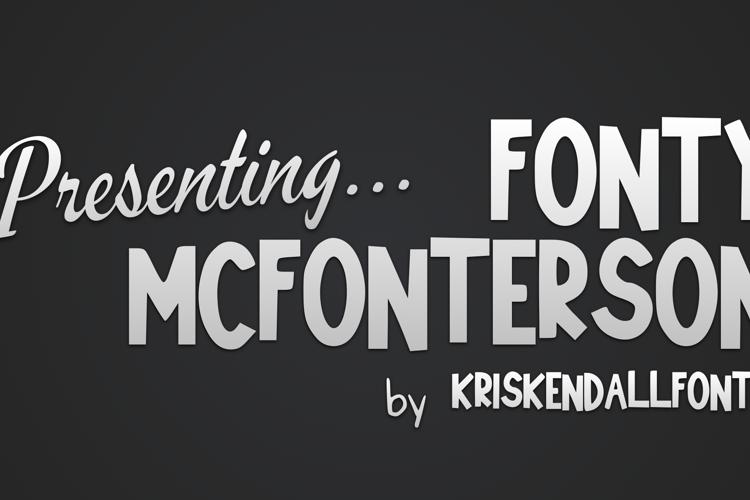 Fonty_McFonterson Font