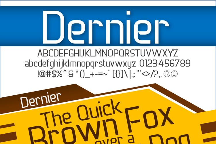 DERNIER Font