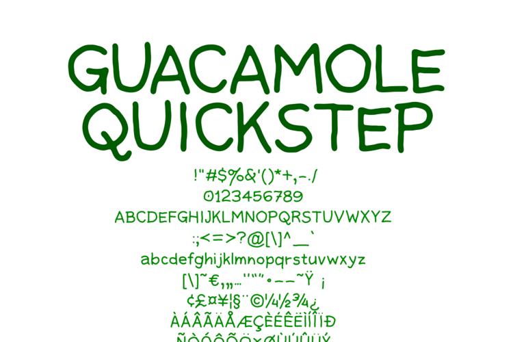 Guacamole Quickstep Font