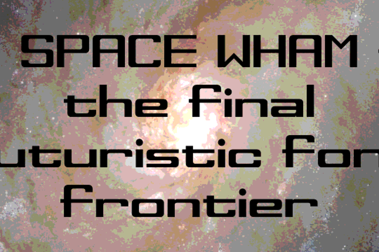 Space Wham Font