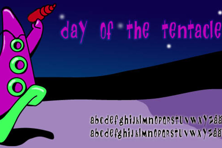 Day Of The Tentacle Font