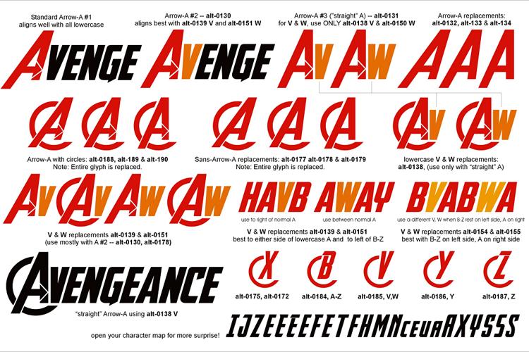 Avengeance Font