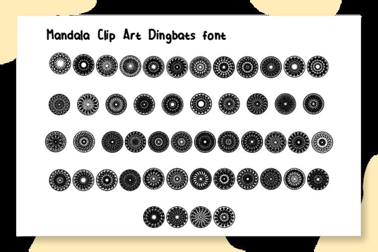 Mandala Clip Art Font