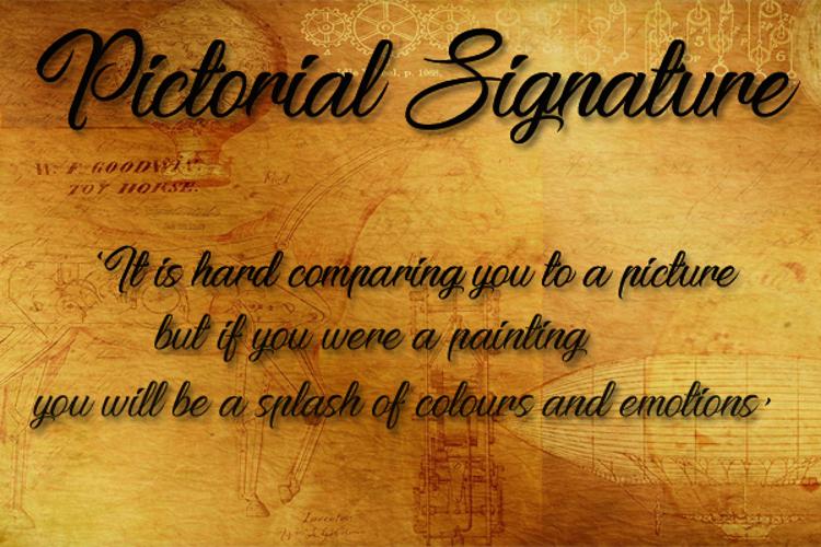 Pictorial Signature Font