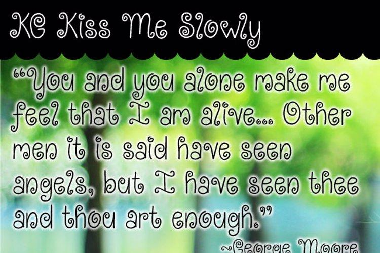 KG Kiss Me Slowly Font