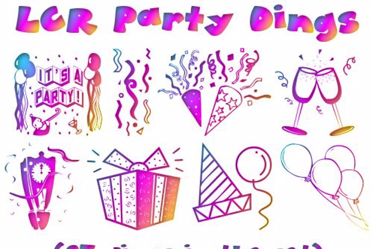 LCR Party Dings Font