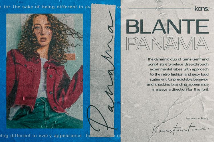 Blante Panama Script Font