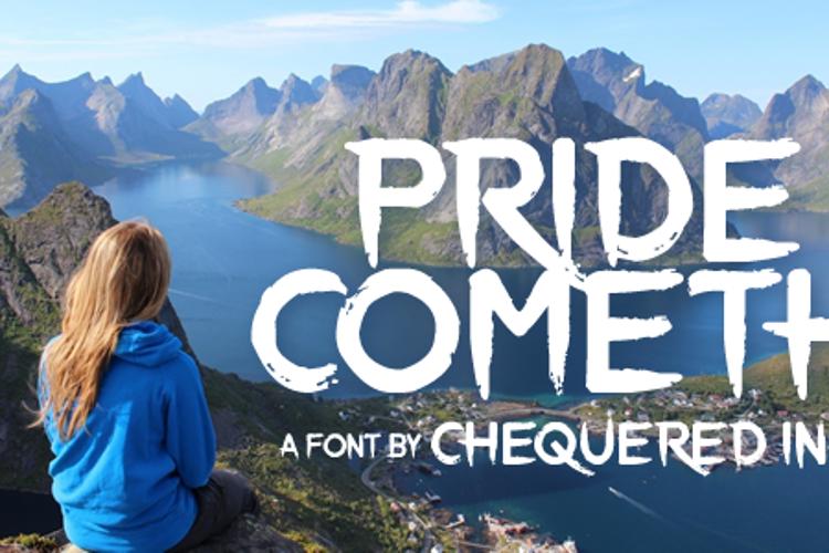Pride Cometh Font